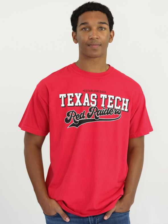 Texas Tech University Red Raiders Retro Comfort Colors T-Shirt - Red