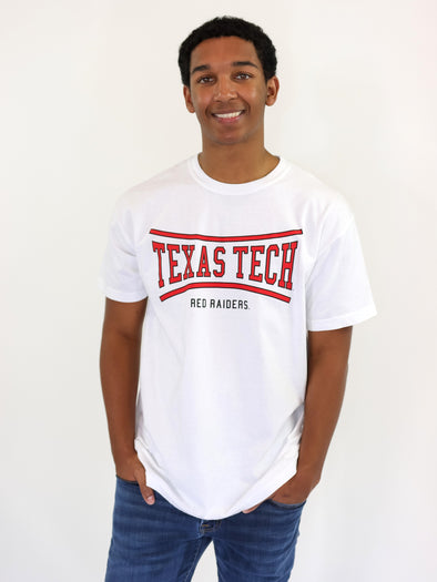 Texas Tech University Red Raiders Retro Bend Comfort Colors T-Shirt - White