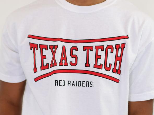 Texas Tech University Red Raiders Retro Bend Comfort Colors Cropped T-Shirt - White