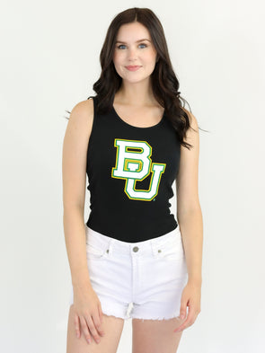 Baylor University Bears Ribbed Tank Top - Black