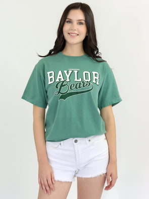 Baylor University Bears Retro Comfort Colors Short Sleeve T-Shirt - Light Green