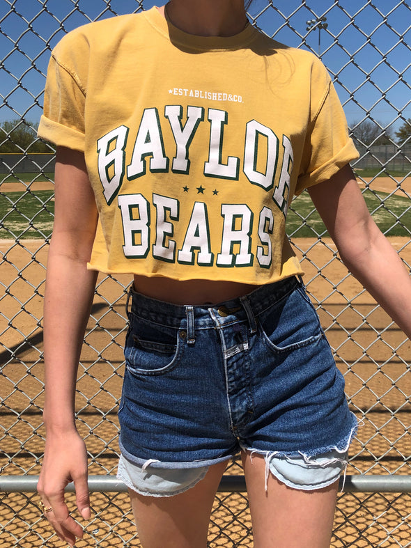 The Welcome Week Cropped Tee - Baylor University - Yellow