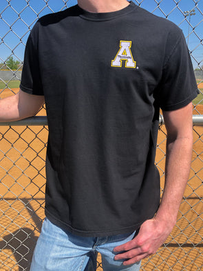 The University Embroidered Tee - Appalachian State - Black