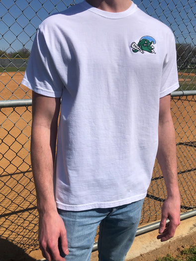 The University Embroidered Tee - Tulane University - White