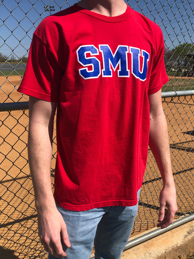 Southern Methodist University Mustangs Classic Logo Tee - Red