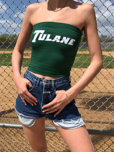 The Stadium Tube Top - Tulane University - Green