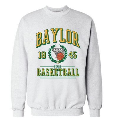 Baylor University Bears Limited Edition Vintage Championship Basketball Sweatshirt - Ash Grey