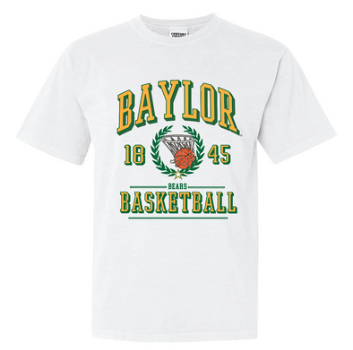 Baylor University Bears Limited Edition Vintage Championship Basketball T-Shirt - White