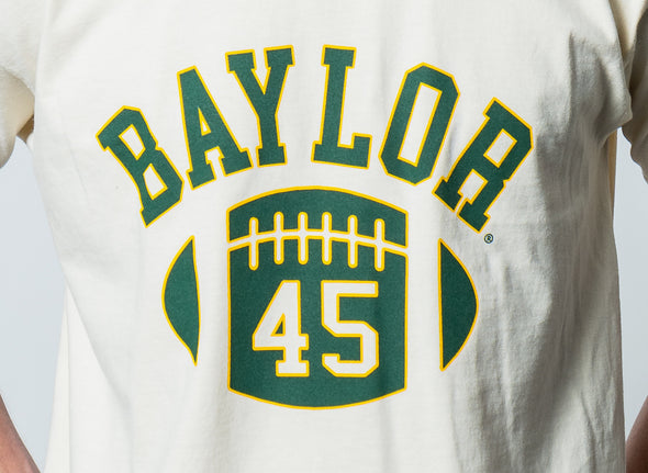 Baylor University Bears First Down Comfort Colors Short Sleeve Cropped T-Shirt - Ivory