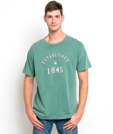 Baylor University 1845 Comfort Colors Established Short Sleeve T-Shirt - Light Green