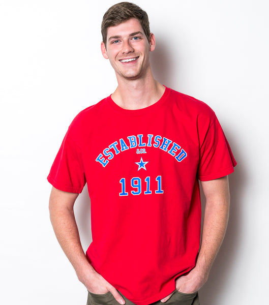 Southern Methodist University Comfort Colors Established 1911 Short Sleeve T-Shirt - Red