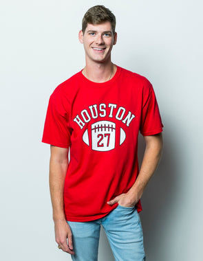 University of Houston Cougars First Down Comfort Colors Short Sleeve T-Shirt - Red