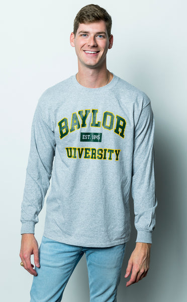 Baylor University Bears Long Sleeve T-Shirt - Grey