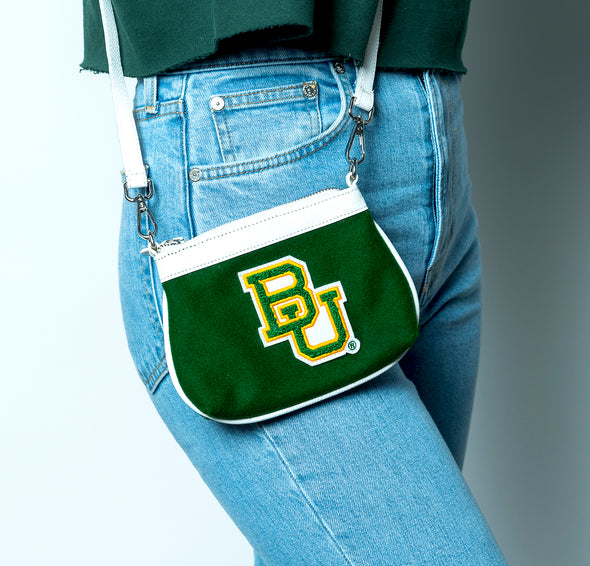 Baylor University Bears Vintage Chenille Stadium Size Crossbody Purse