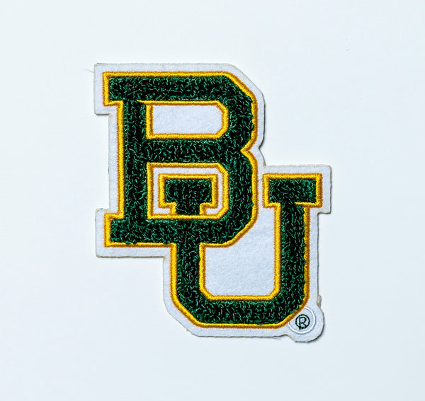 Baylor University Bears Interlocking BU Chenille Patch