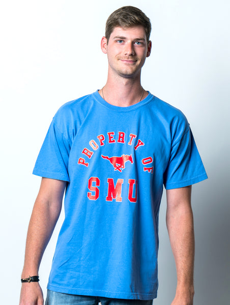 Southern Methodist University Property of SMU Comfort Colors T-Shirt - Blue