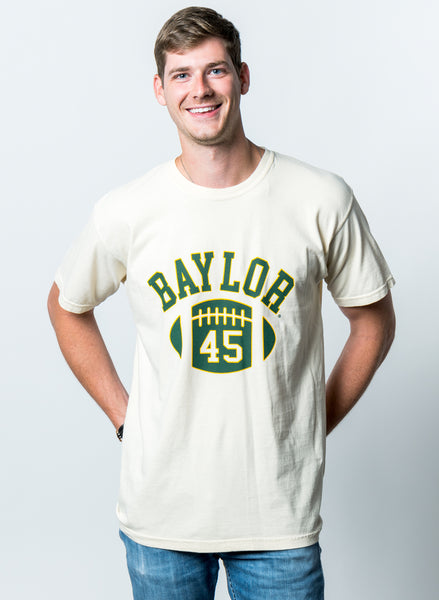 Baylor University Bears First Down Comfort Colors Short Sleeve T-Shirt - Ivory