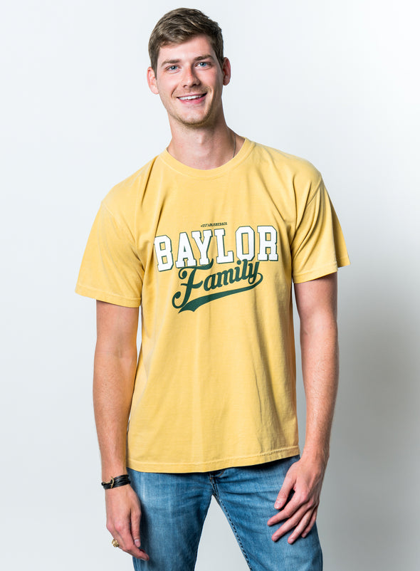 Baylor University Bears Family Comfort Colors Short Sleeve T-Shirt - Yellow
