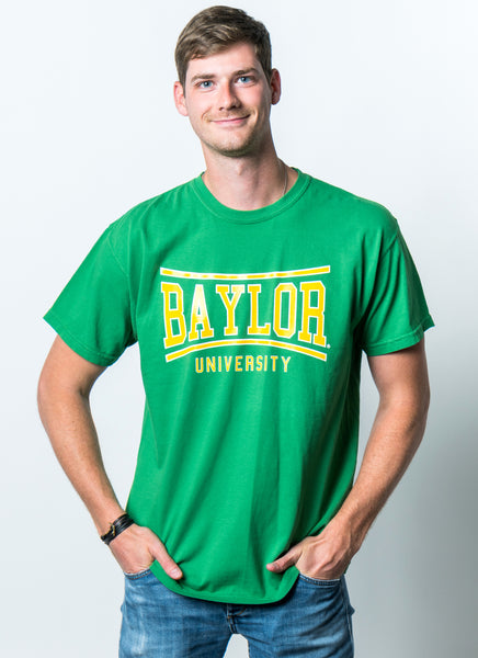 Baylor University Bears Retro Bend Comfort Colors Short Sleeve T-Shirt - Green