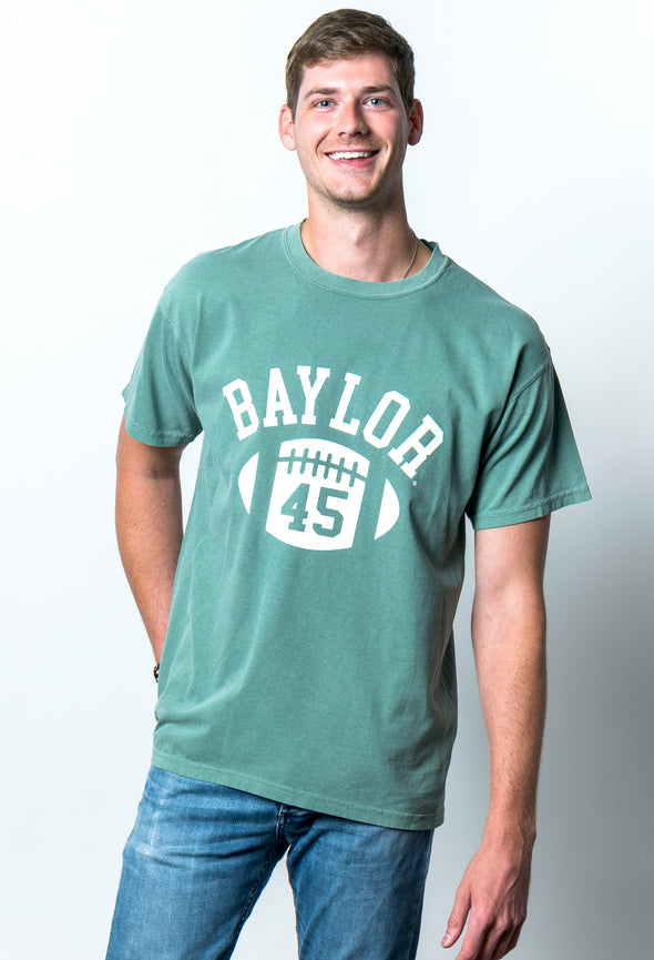 Baylor University Bears First Down Comfort Colors Short Sleeve T-Shirt - Light Green
