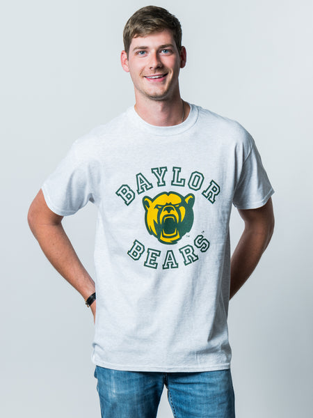 Baylor University Bears Touchdown Short Sleeve T-Shirt - Ash Grey