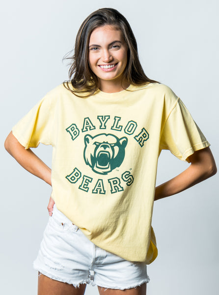 Baylor University Bears Touchdown Comfort Colors Short Sleeve T-Shirt - Butter