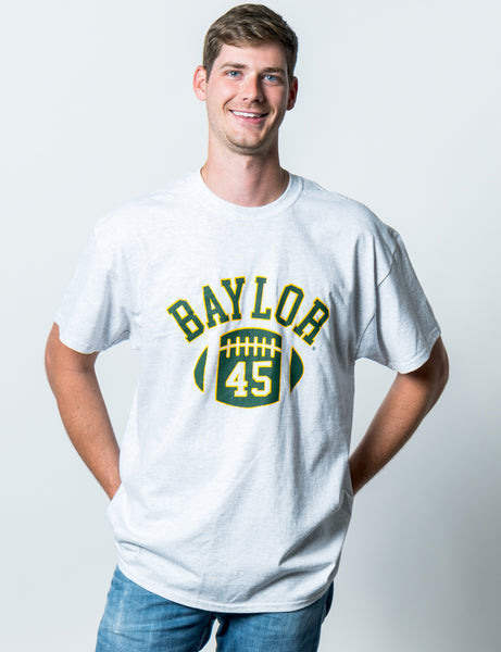 Baylor University Bears First Down Short Sleeve T-Shirt - Ash Grey