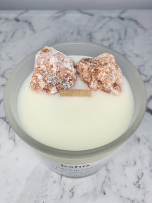 Orange Calcite Infused Beesoy Candle