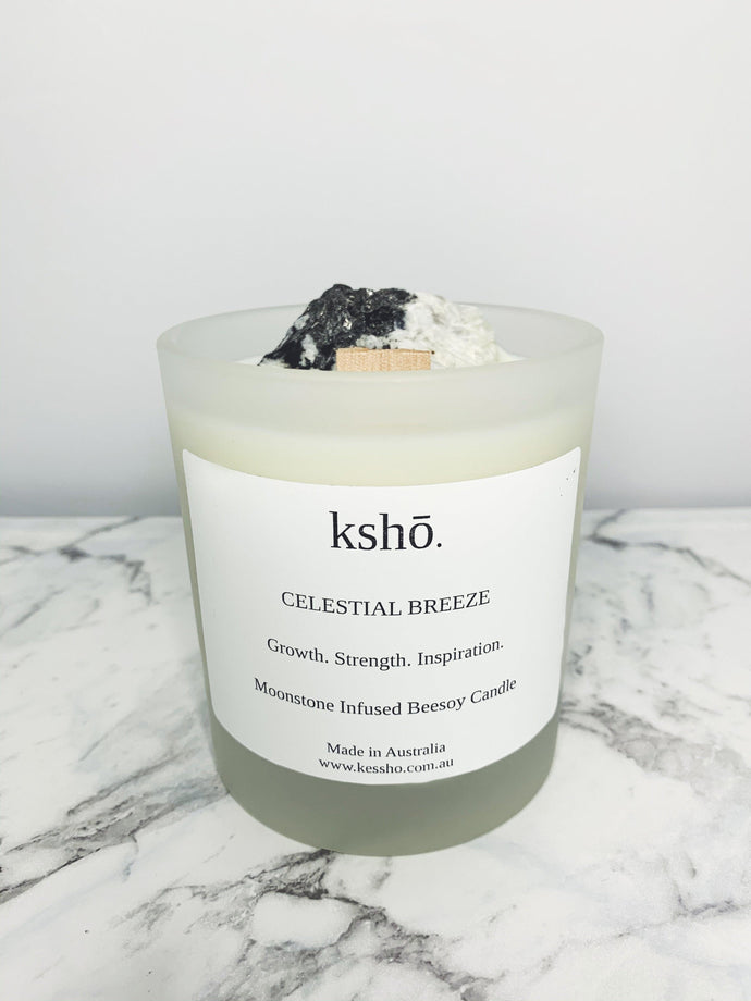 Moonstone Infused Beesoy Candle