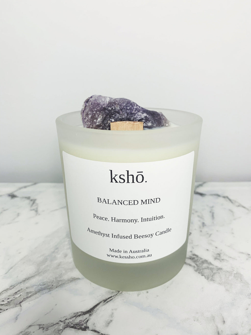 Amethyst Infused Beesoy Candle candle kesshō