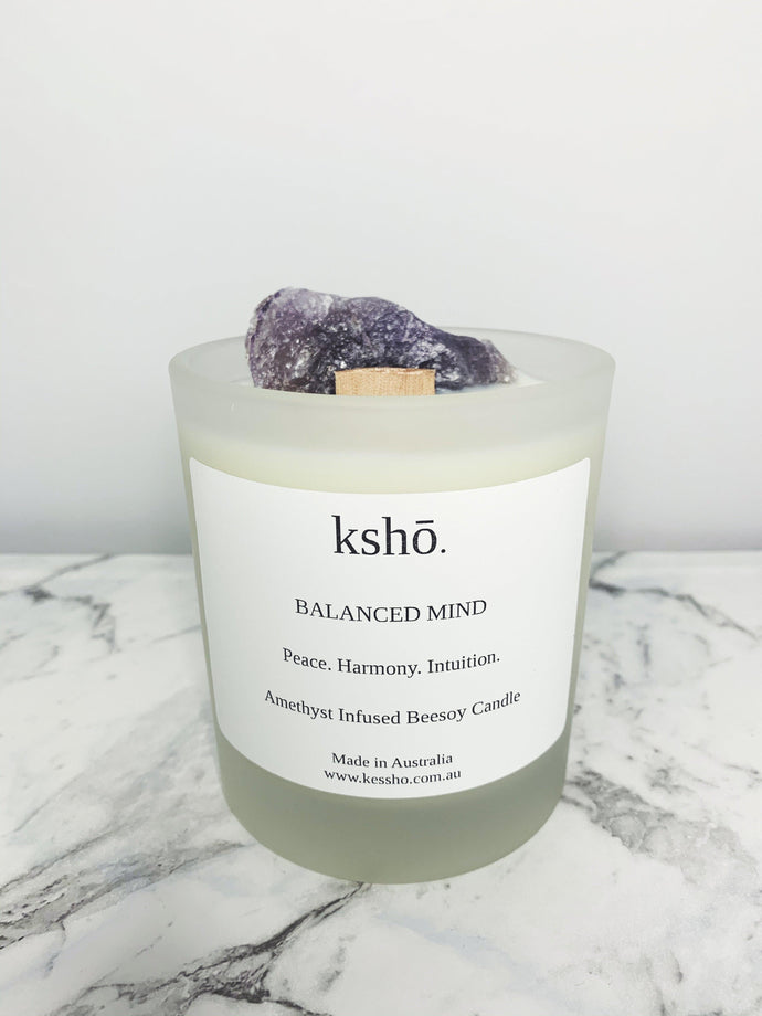 Amethyst Infused Beesoy Candle