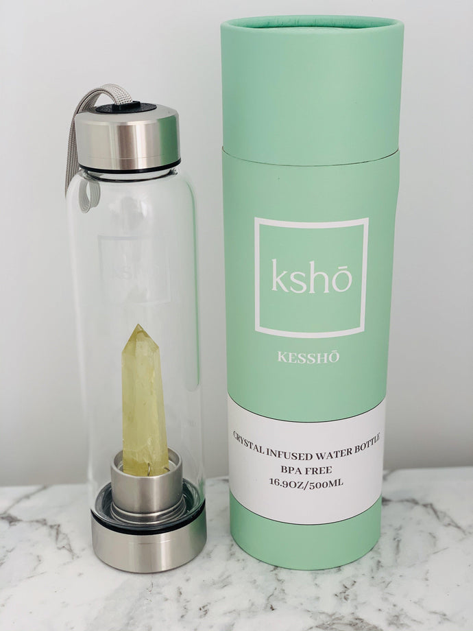 Citrine Crystal Infused Water Bottle