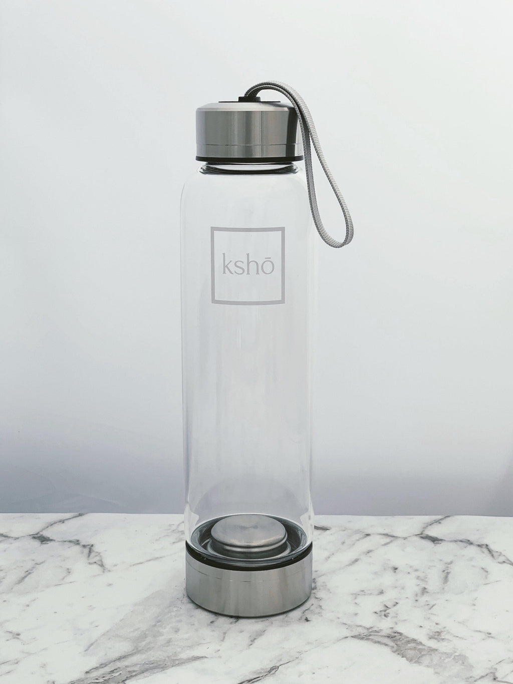 Premium KSHO Glass Bottle - Silver