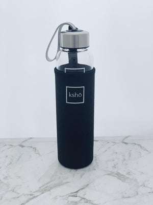 Premium KSHO Glass Bottle - Silver kesshō