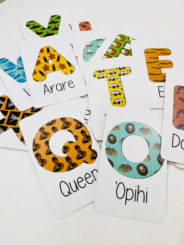 Local Kine Alphabet Flash Cards