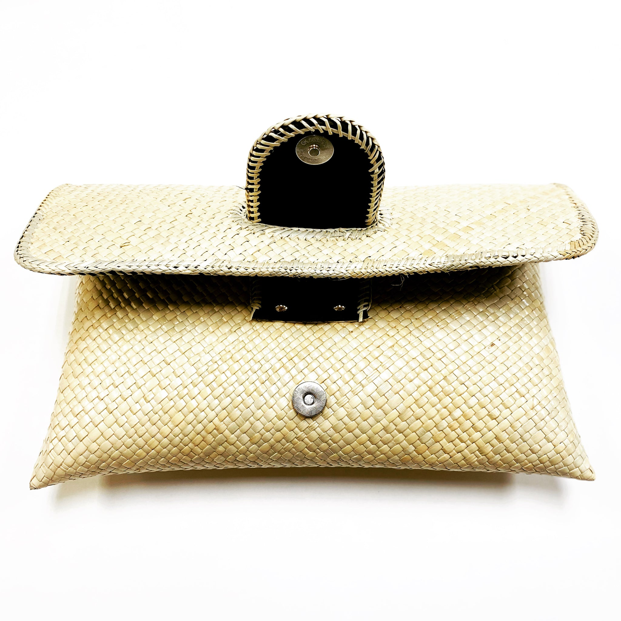 Lauhala Foldover clutch