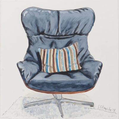 Buy original Toronto Canadian realistic art painting for sale Lisa Litowitz Chair