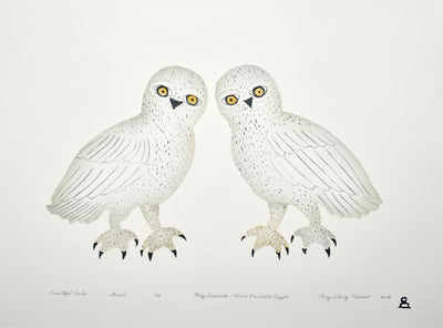 Beautiful Owls by Inuit Canadian artist May Lonsdale