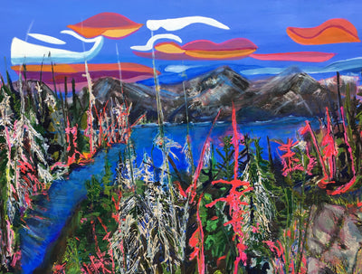 With Intention, 'Beautiful Lanezi Lake' by Canadian artist Donna Chudnow
