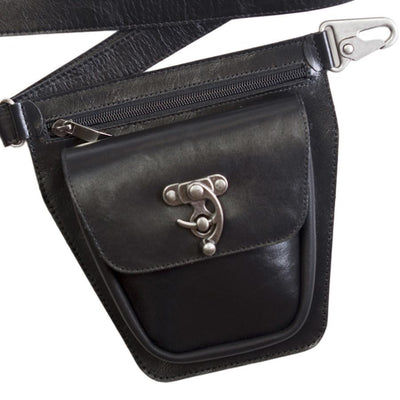 ROVER Leather Fanny Pack - Black