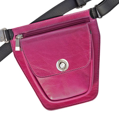 ROVER Leather Fanny Pack - Fuchsia Pink