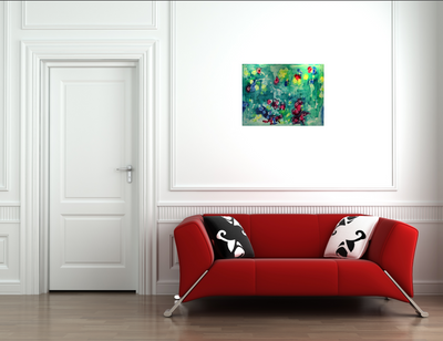 Buy original Toronto Canadian abstract art painting for sale Anita Shiels view in room