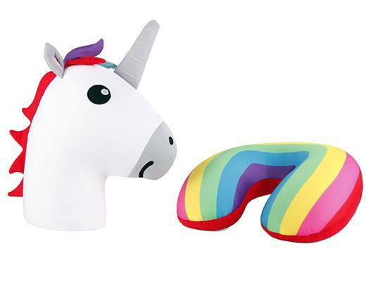 Unicorn Zip & Flip Pillow - cool, curated gift that changes from cute unicorn to neck pillow
