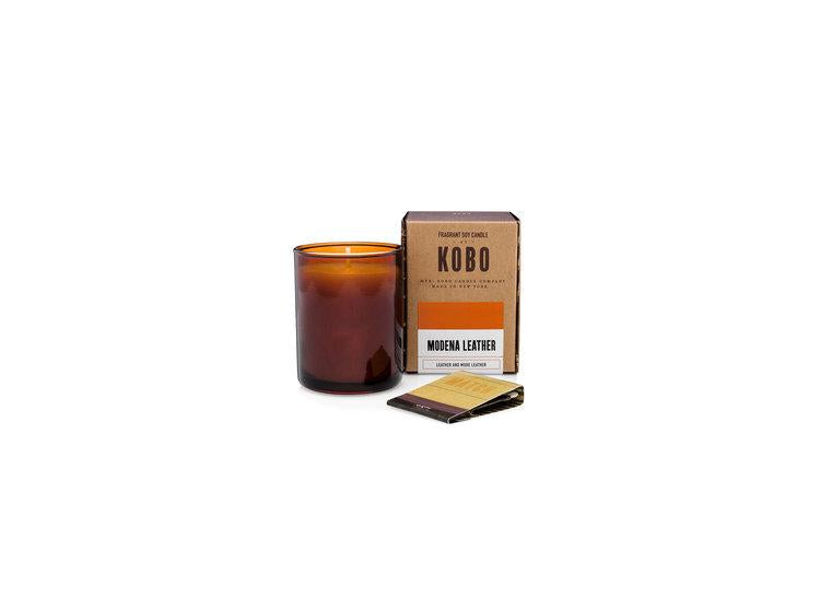 Woodblock Candle - Modena Leather
