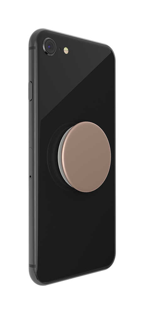 PopSocket Rose Gold Aluminum - smartphone accessory that takes the pressure off wrists and hands