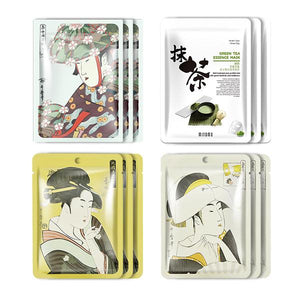 MITOMO Type A [JP UKIYOE trial set 12 sheets] Beautiful skin face mask - Made in Japan - Reward yourself, moisturize your skin. - Mitomo America