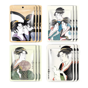 MITOMO Type C [JP UKIYOE trial set 12 sheets] Beautiful skin face mask - Made in Japan - Reward yourself, moisturize your skin. - Mitomo America