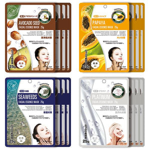 Mitomo Facial Cleansing Skincare Beauty Face Mask Sheet bundles: 4 types – 16 packs - Mitomo America