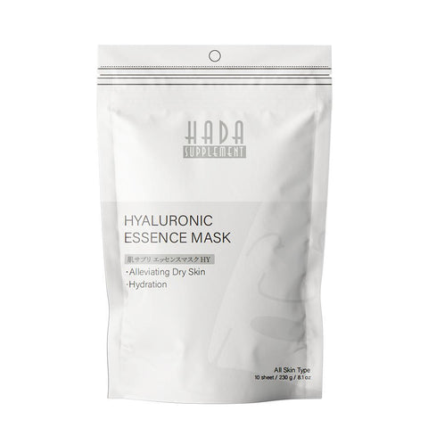 [HS520-C-4] Hada Supply Hyaluronic  Essence Mask (10pcs/Unit) - Mitomo America