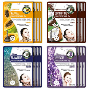 Mitomo Facial Hydration Skincare Beauty Face Mask Sheet bundles: 4 types – 16 packs - Mitomo America